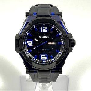 Armitron Pro Sport Watch Black & Blue NWOT